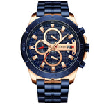 Curren Luxe Business Watch Blue