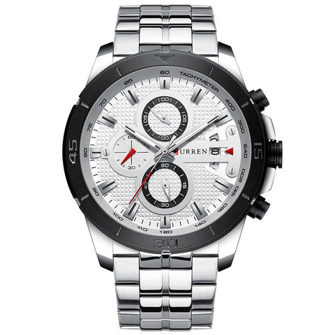 Curren Luxe Business Watch Silver