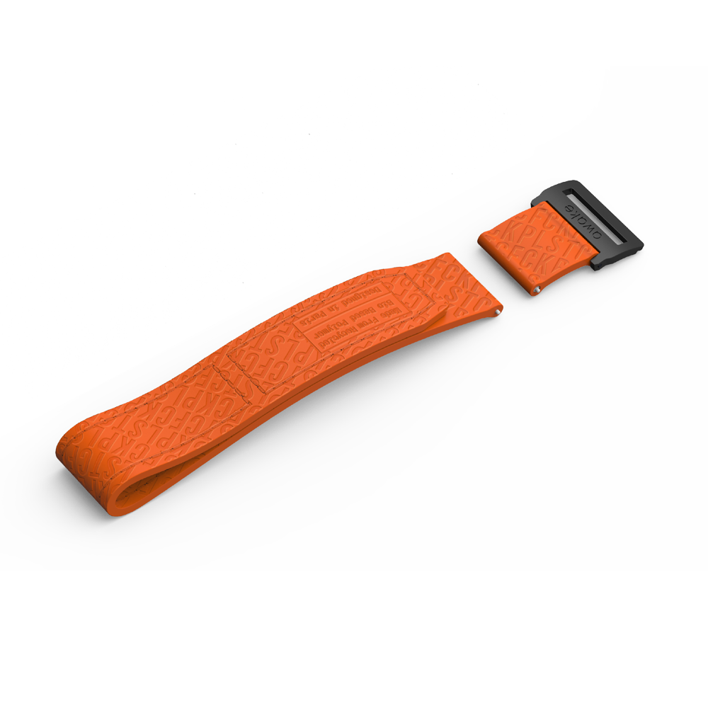 Bracelet ST.01 BioPoly Velcro Orange