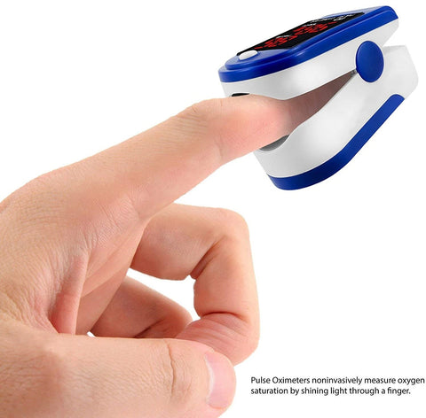 finger device to measure oxygen
