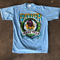 "Vintage 1988 The California Raisins ""Father of the Year"" Shirt - M"