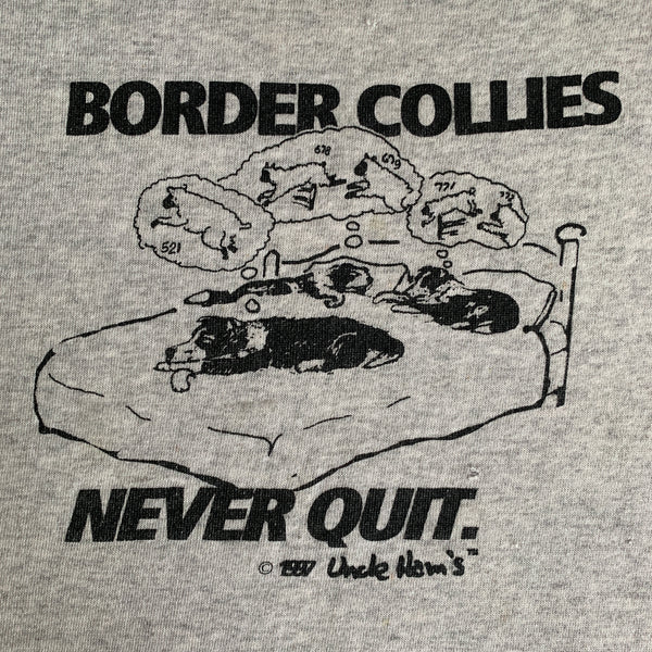 "Vintage 1997 ""Border Collies Never Quit"" Crewneck - XL"