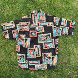 Straight Down Hawaiian Button up Shirt - XL