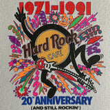 "Vintage 1991 Hard Rock Cafe ""20th Anniversary"" Shirt - L"