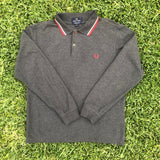 Fred Perry Long Sleeve Polo Shirt - S