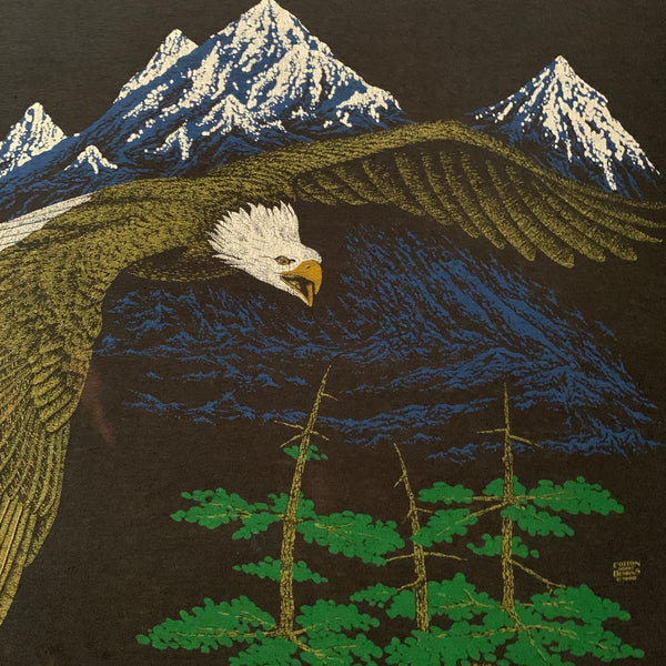 "Vintage 1980 Cotton Groyl Designs  ""Eagle"" Shirt - L"