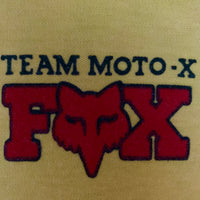 "Vintage 80's Fox ""Team Moto-X"" Long Sleeve Shirt - XL"