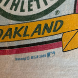 Vintage 1989 Giants Athletics World Series Shirt - M