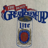 "Vintage Miller Lite Beer ""The Really Great Pick em up"" Shirt - L"