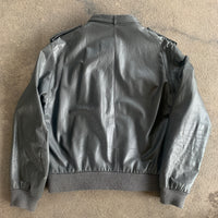 Members Only Leather Jacket - L