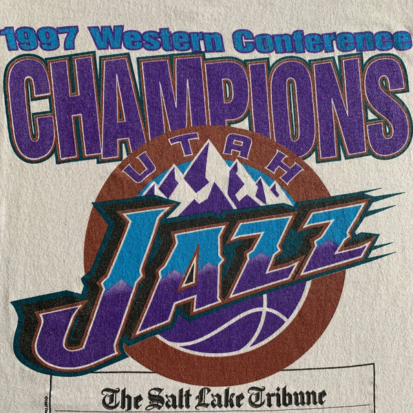 "Vintage 1997 Utah Jazz ""Western Conference Champions"" Shirt - L"