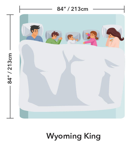 Wyoming King Bed Size Mattress Dimensions