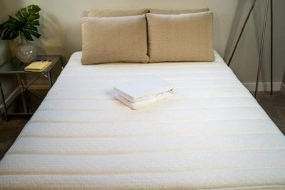 White Folded Mattress Protector Canada
