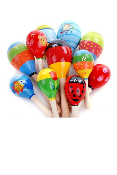 Colorful Wooden Hand Rattle