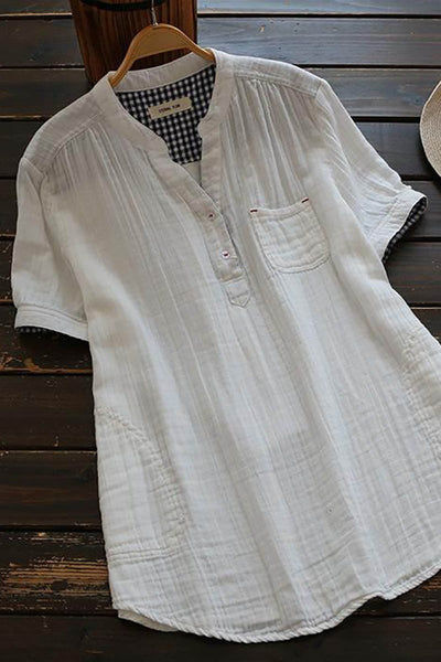 Plaid Lined Cotton Shirt