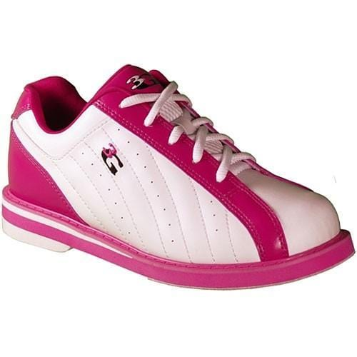 Shop 3G Womens Kicks White/Pink Bowling Shoes from Bowlers Paradise at Low Prices