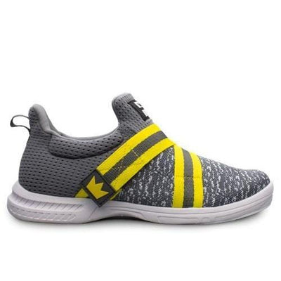 Brunswick Mens Slingshot Grey Yellow Bowling Shoes