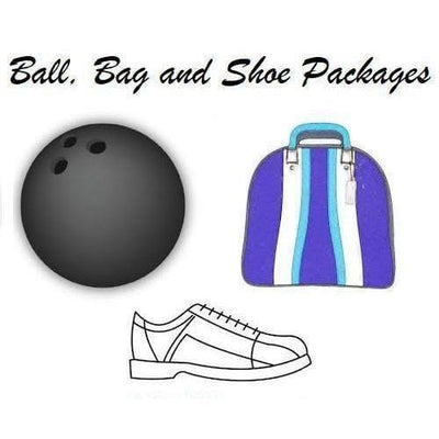 Brunswick Shark Glow Viz-A-Ball Bowling Ball, Bags & Shoe Packages