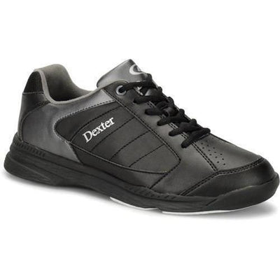 Dexter Mens Ricky IV Black Alloy Wide Bowling Shoes-BowlersParadise.com