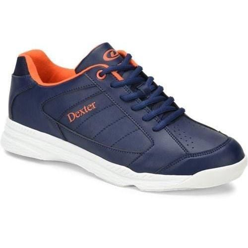 Dexter Mens Ricky IV Navy Orange Bowling Shoes-BowlersParadise.com