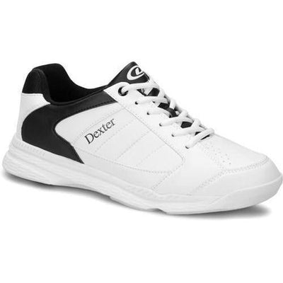 Dexter Mens Ricky IV White Black Wide Bowling Shoes-BowlersParadise.com
