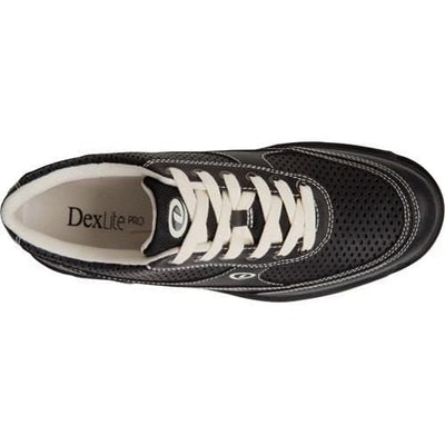 Dexter Mens Turbo Pro Black/Cream Wide Bowling Shoes-BowlersParadise.com