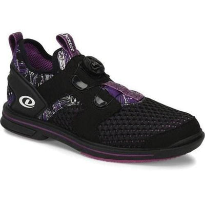 Dexter Womens DexLite Pro BOA Black Purple Right Hand Bowling Shoes