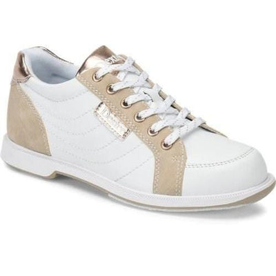 Dexter Womens Groove IV White Rose Gold Wide-BowlersParadise.com