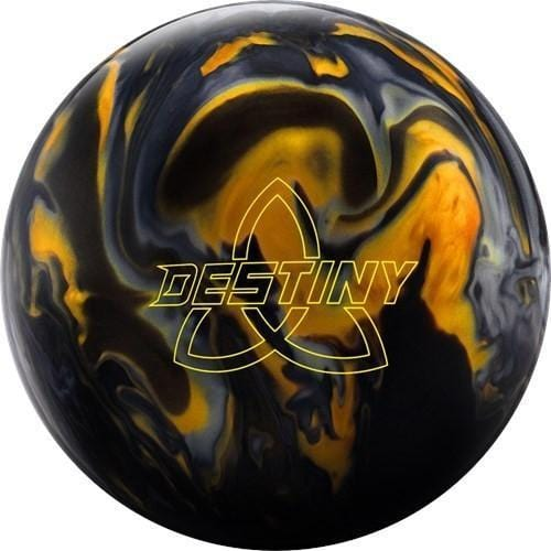 Ebonite Destiny Hybrid Black Gold Silver Bowling Ball