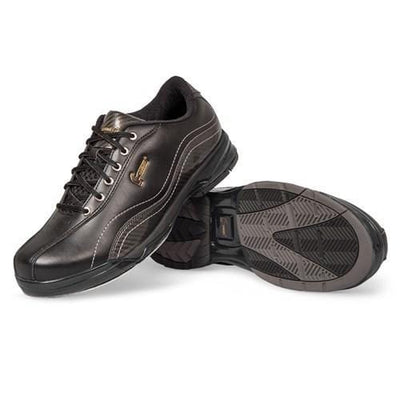 Hammer Mens Force Black Carbon Right Hand Wide Bowling Shoes With T03 Rubber Push Off Sole
