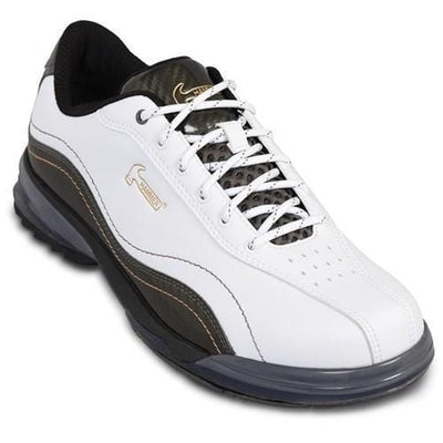 Hammer Mens Force Right Hand Bowling Shoes in White/Carbon - Bowlers Paradise
