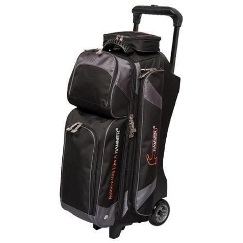 Shop Hammer Premium 3 Ball Roller Bowling Bag in Black/Carbon Color from Bowlers Paradise