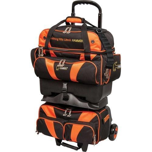 Shop Hammer Premium 4 Ball Roller Bowling Bag in Black/Orange Color at Bowlers Paradise