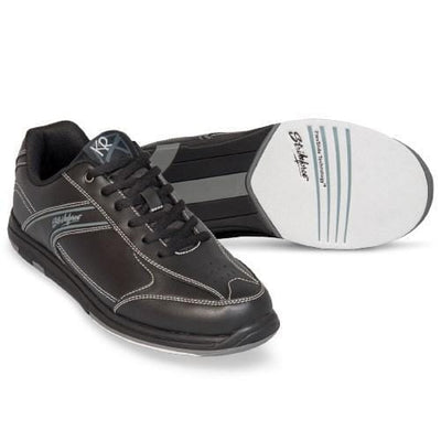 KR Strikeforce Flyer Black Bowling Shoes For Men With Non-Marking Rubber Outsole