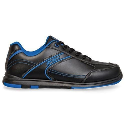 KR Strikeforce Flyer Black Blue Wide Bowling Shoes for men