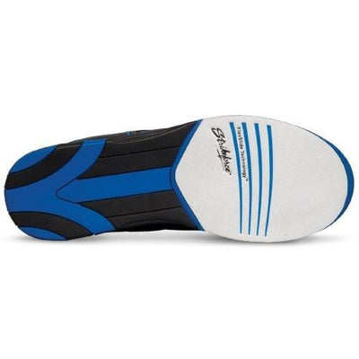 KR Strikeforce Mens Flyer Black Blue Wide Bowling Shoes With Universal Soles