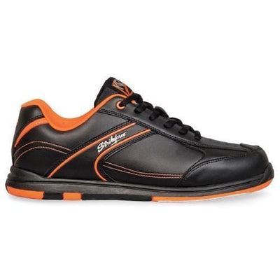 Shop KR Strikeforce Flyer Black Orange Bowling Shoes from BowlersParadise.com - Lightweight, Komfort-Fit, Low Prices