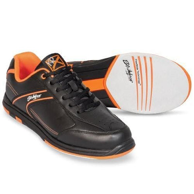 KR Mens Flyer Black Orange Bowling Shoes for men with non-marking rubber outsole