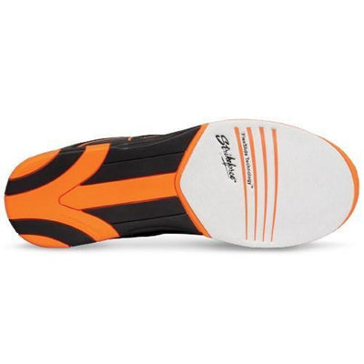 KR Strikeforce Mens Flyer Black Orange Bowling Shoes With Non-Marking Rubber Outsole