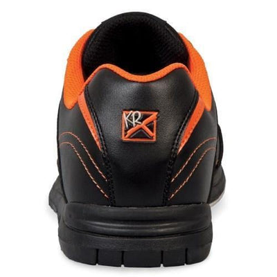 Shop KR Strikeforce Mens Flyer Black Orange Bowling Shoes With Non-Marking Rubber Outsole