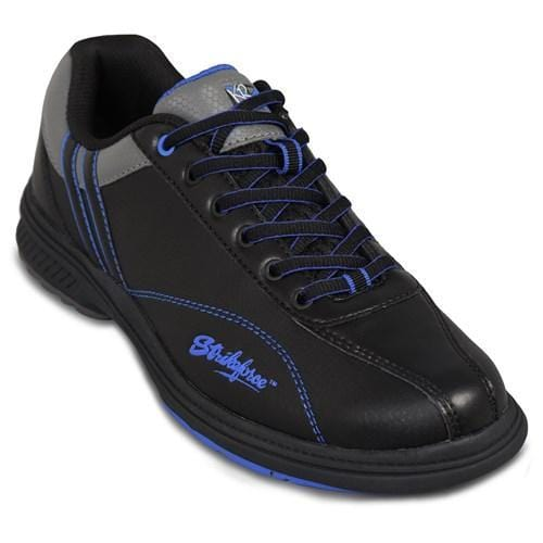 Shop KR Strikeforce Mens Raptor Black Royal Left Hand Bowling Shoes
