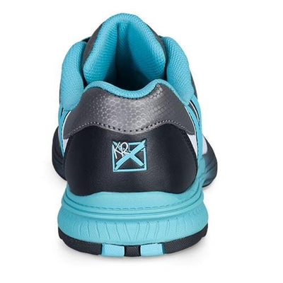 KR Strikeforce Womens Starr White/Black/Teal Left Hand Bowling Shoes-BowlersParadise.com