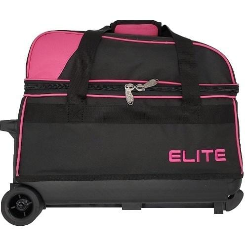 Elite Double Roller Pink Bowling Bag-BowlersParadise.com
