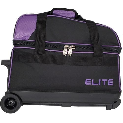 Elite Double Roller Purple Bowling Bag