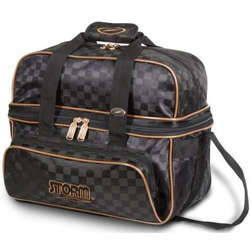 Storm 2 Ball Deluxe Tote Checkered Black Gold