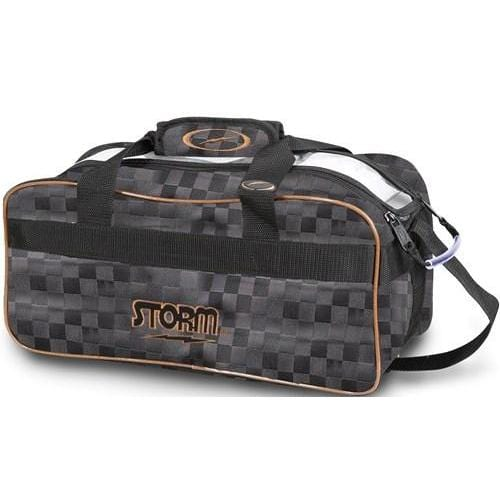 Storm 2 Ball Tote Checkered Black Gold