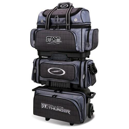 Shop for Storm 6 Ball Rolling Thunder Charcoal Plaid Grey Black Bowling Bag from Bowlers Paradise