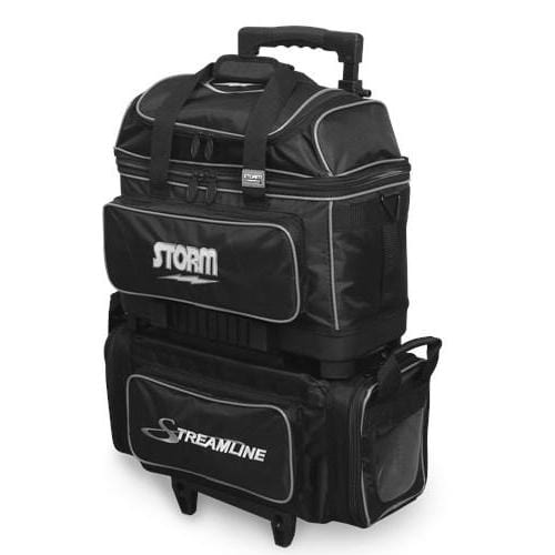 Storm Streamline 4 Ball Roller Black/SilverBowling Bag-BowlersParadise.com