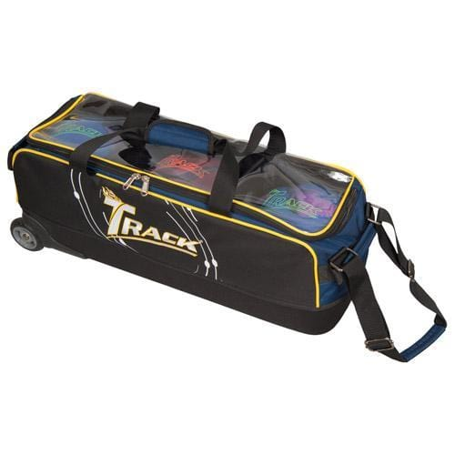 Track Premium Player Slim Triple Navy Yellow Bowling Bag