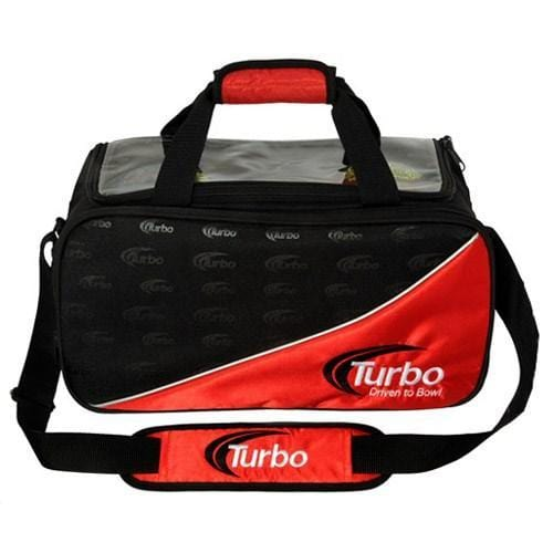 Turbo 2 Ball Tour Tote Black/Red Clear Top-BowlersParadise.com